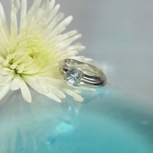 Aquamarine Engagement Ring Band