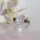 White Topaz Halo Ring Sterling Silver