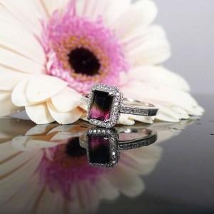 Bi Color Tourmaline Ring
