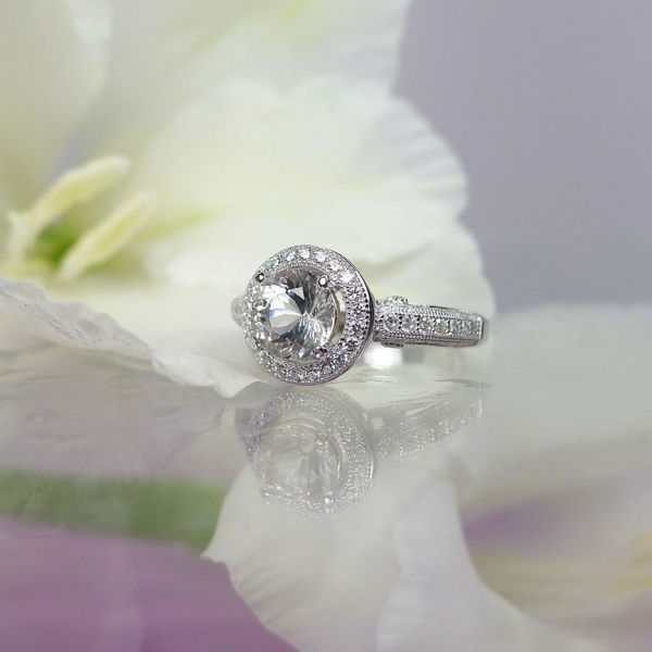 Halo Gemstone Ring
