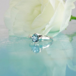 Aquamarine Sterling Ring