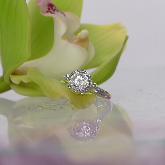 Solitaire Sterling Ring