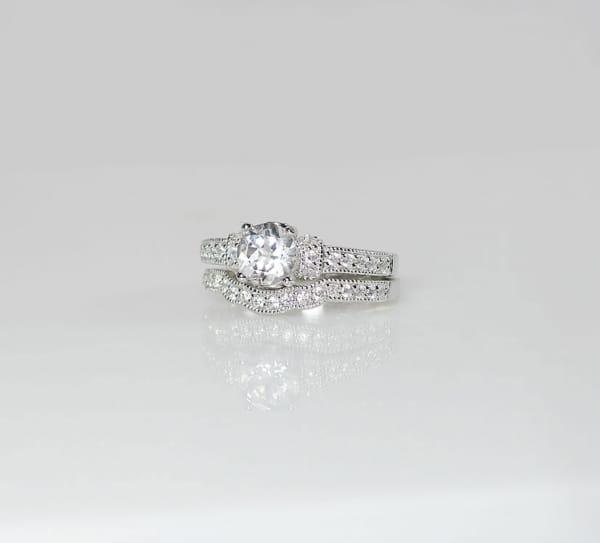 White Topaz Engagement Set