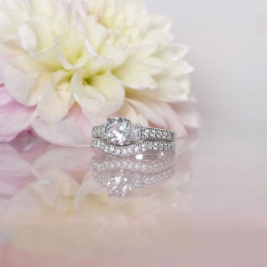 White Topaz Engagement Set
