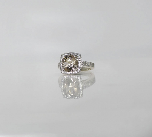 Micro Pave Engagement Ring