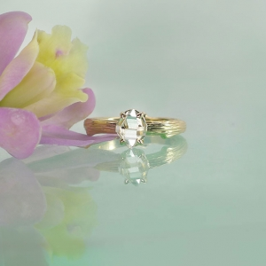 Tree Branch Raw Crystal Ring