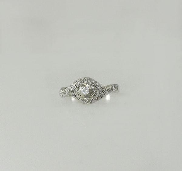 White Gold Twist Ring
