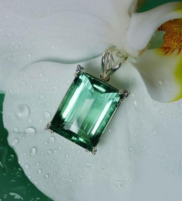 Green Fluorite Emerald Pendant