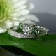 Herkimer Diamond Green Tourmaline Wedding Set