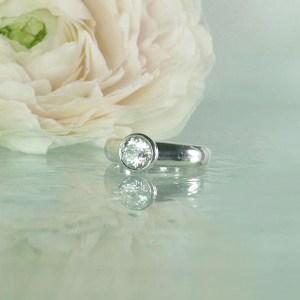Bezel Set Herkimer Diamond Ring