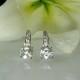 Herkimer diamond leverback earrings