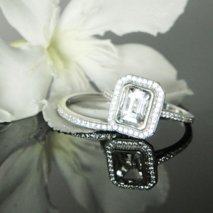 Emerald Cut Engagement Set