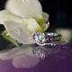 February birthstone wedding set