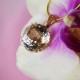 Herkimer Diamond Rose Gold Pendant