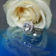 White Sapphire Wedding Set