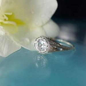 Antique Replica Herkimer Diamond Ring