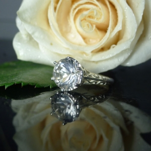 Herkimer Diamond Filigree Ring