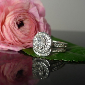Herkimer diamond Wedding Set