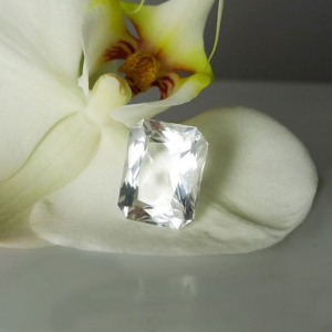 Herkimer Diamond Emerald Step Cut