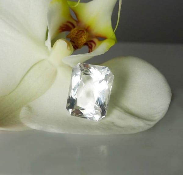 Herkimer Diamond Emerald Step Cut