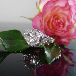 Unique Antique Style Engagement Ring