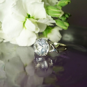 Herkimer Diamond kiss ring