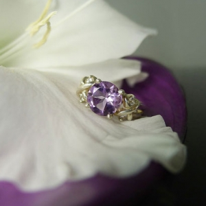 Amethyst Hugs Kisses Ring