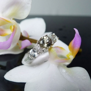 Three stone promise ring