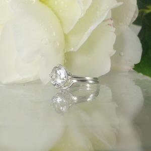 Solitaire Wedding Set