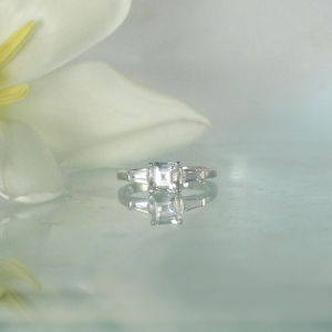Dainty Square Engagement Ring