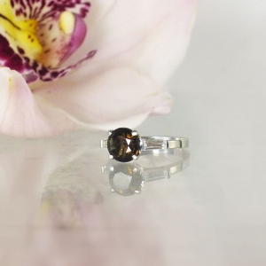 Smokey Quartz Promise Ring