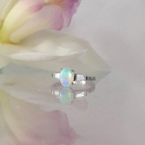 Australian Opal Dainty Ring