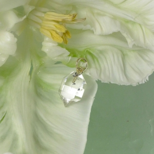 Natural crystal herkimer diamond pendant