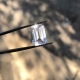 Emerald cut herkimer diamond