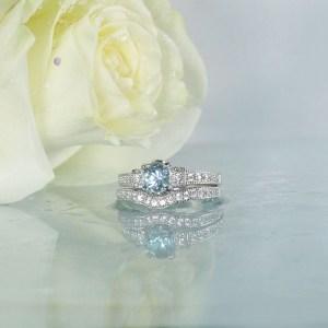 Aquamarine Engagement Set