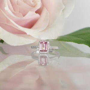 Tourmaline Emerald Cut Ring