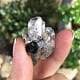 Multiple point herkimer crystal
