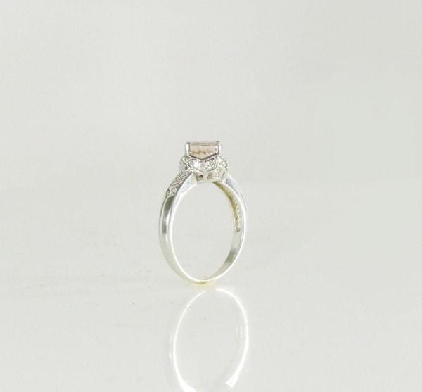 Morganite solitaire ring