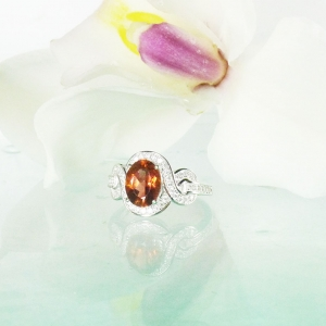 Orange Tourmaline Ring