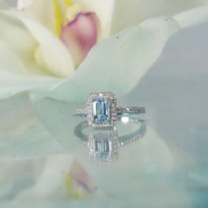 Maine aquamarine ring
