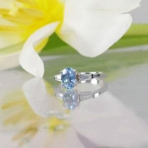 Maine Aquamarine Silver Ring