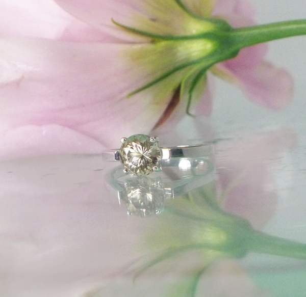 Round Herkimer Solitaire Ring