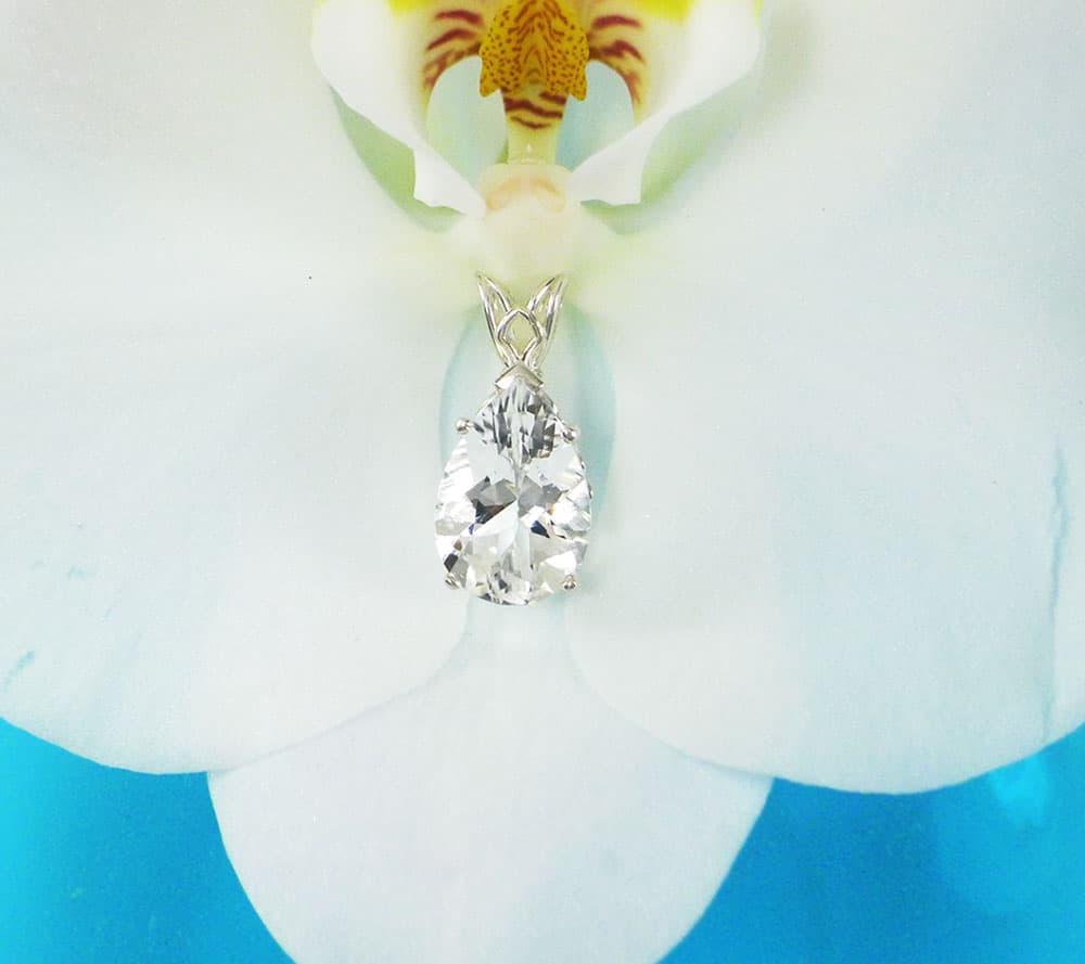 Teardrop Herkimer Diamond Pendant