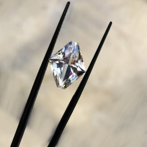 Fancy cut herkimer diamond
