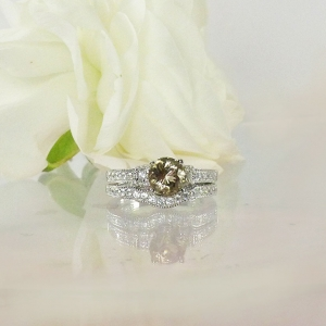 Champagne Herkimer Wedding Set