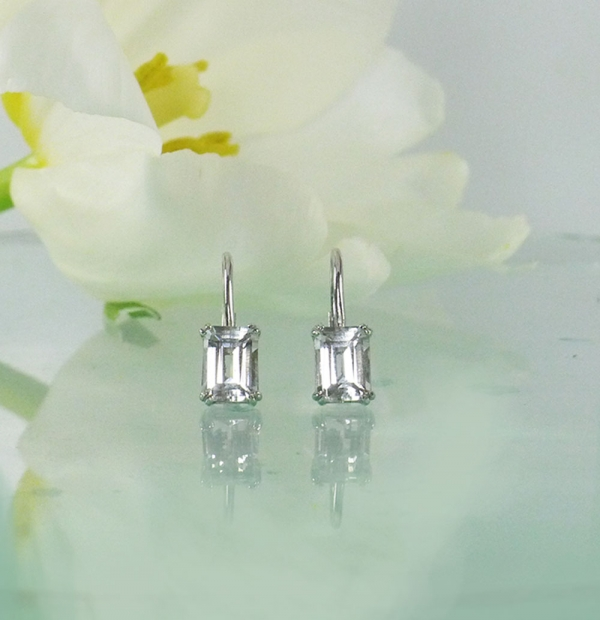 Lever Back Herkimer Earrings