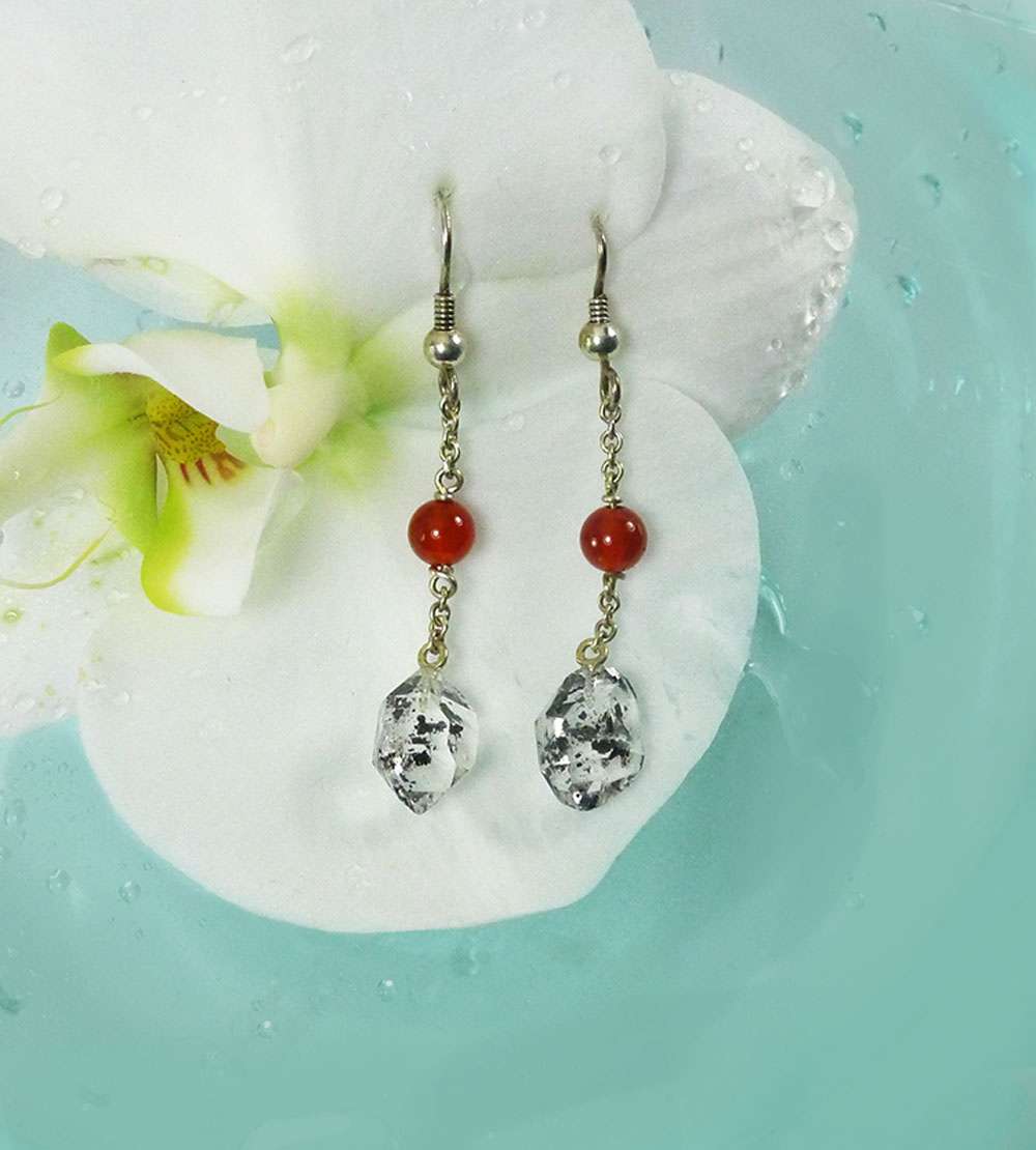 Raw Crystal Dangle Earrings
