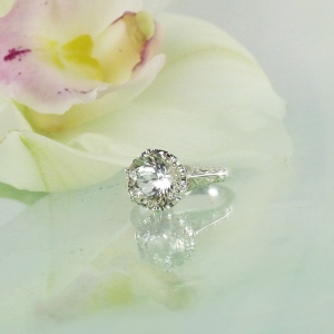 Herkimer Filigree Ring