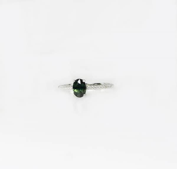 Dainty Green Sapphire Ring