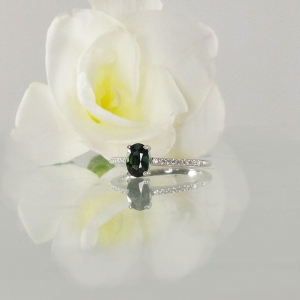 Dainty Green Sapphire Ring